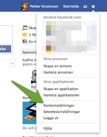 Kontoinställningar på Facebook